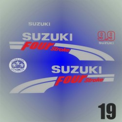 019 Naklejki na silnik   SUZUKI Four Stroke 9.9