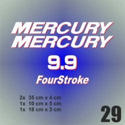 029 Naklejki na silnik | Mercury 9.9