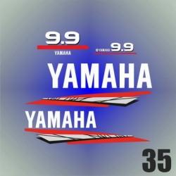 035 Naklejki na silnik | Yamaha 9.9