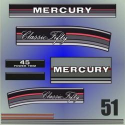 051 Naklejki na silnik Mercury Classic Fifty 45 HP