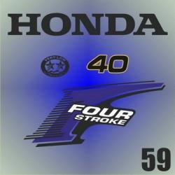 059 Naklejki na silnik HONDA Four Stroke  40