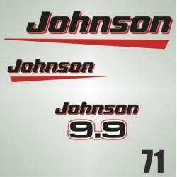 071 Naklejki na silnik Johnson 9.9