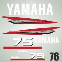 076 Naklejki na silnik Yamaha 75