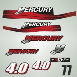 077 Naklejki na silnik Mercury 4.0