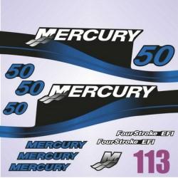 0113 Naklejki na silnik MERCURY 50