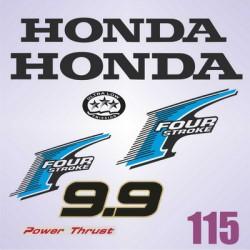 0115  Naklejki na silnik HONDA Four Stroke 9.9