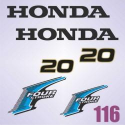 0116  Naklejki na silnik HONDA Four Stroke 20
