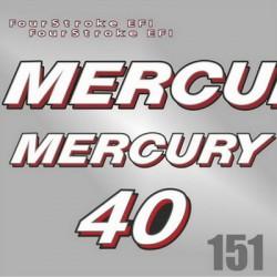 0150 Naklejki MERCURY 40