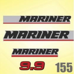 0155 Naklejki na silnik MARINER 9.9