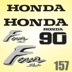 0157 Naklejki na silnik HONDA 90 Four Stroke