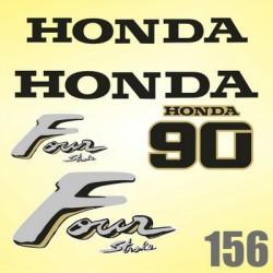 0156 Naklejki na silnik HONDA 90 Four Stroke