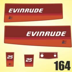 0164 Naklejki na silnik EVINRUDE 25