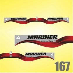 0167 Naklejki na silnik Mariner 4