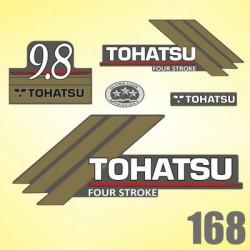 0168 Naklejki na silnik TOHATSU 9.8