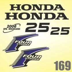 0169 Naklejki na silnik HONDA Four Stroke 25