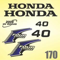 0170 Naklejki na silnik HONDA Four Stroke 40