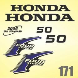 0171 Naklejki na silnik HONDA Four Stroke 50