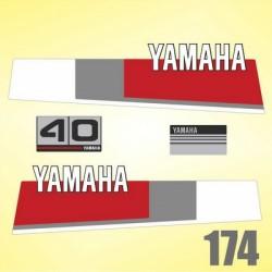 0174 Naklejki YAMAHA 40